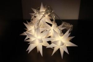 Star-Max LED Sternen-Lichterkette mit 6 weißen Sternen