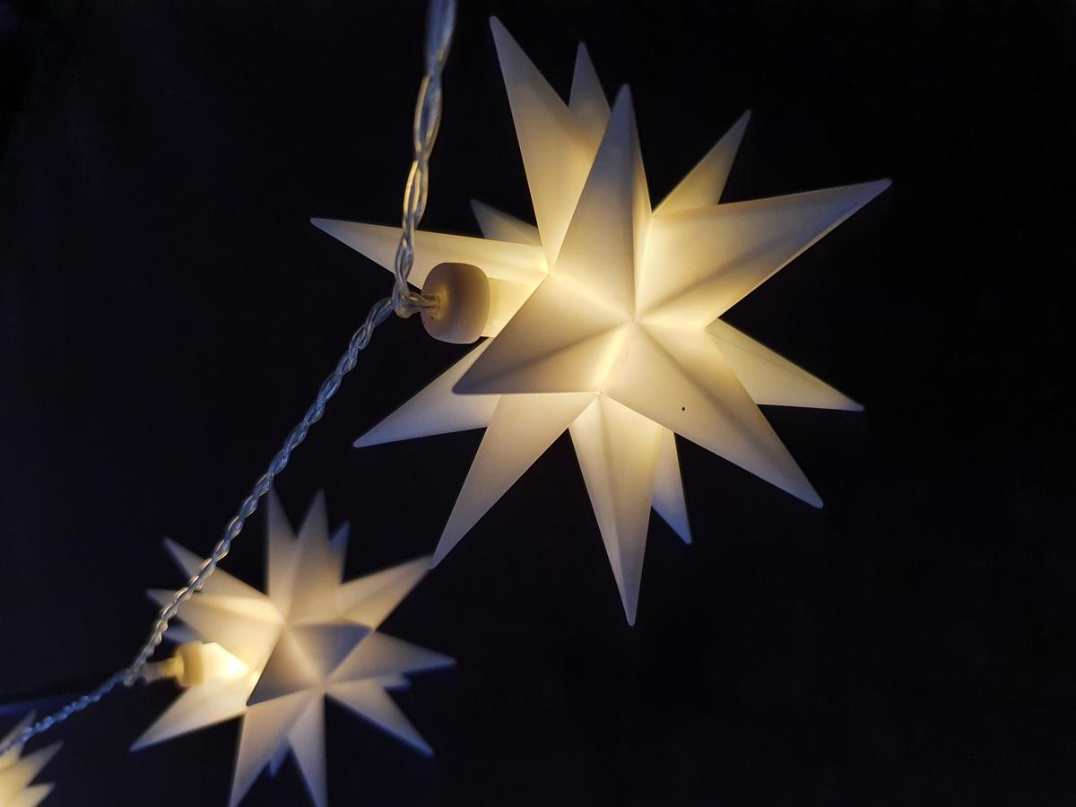 Bild 2 von Star-Max LED Sternen-Lichterkette mit 6 weißen Sternen