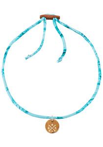 float Choker Compass - Halskette für Damen - Blau