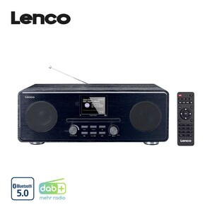 DAB+-Radio DAR-061BK mit Bluetooth® · CD-/MP3-Player · PLL-FM-Radio · Aux-Anschluss · 2 Weckzeiten · Netzbetrieb