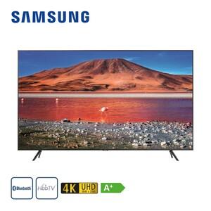 """GU70TU7199 · 2 x HDMI, USB, CI+ · integr. Kabel-, Sat- und DVB-T2-Receiver · Maße: H 87,4 x B 157,1 x T 6 cm · Energie-Effizienz A+ (Spektrum A+++ bis D), Bildschirmdiagonale: 70""""/176 cm"""