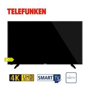 """D55U551N1CW · 3 x HDMI, 2 x USB, CI+ · integr. Kabel-, Sat- und DVB-T2-Receiver · Maße: H 72 x B 124,3 x T 8,1 cm · Energie-Effizienz A+ (Spektrum A+++ bis D), Bildschirmdiagonale: 55""""/139 cm"""