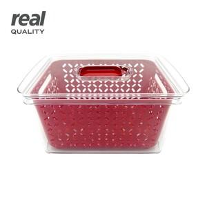 Frischebehälter • zum Aufbewahren von Obst und Gemüse • mit Einsatz für eine optimale Belüftung, ca. 6,4 L
