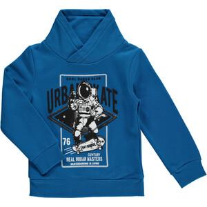 Jungen Sweatshirt mit Turtleneck und Frontprint