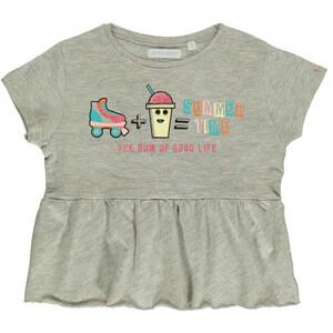 Mädchen Shirt mit Glitzerprint