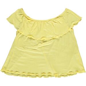 Mädchen Shirt mit Carmen Ausschnitt