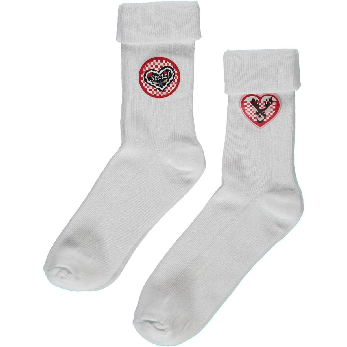 Bild 1 von Mädchen Socken im Trachtenlook als 2er Pack