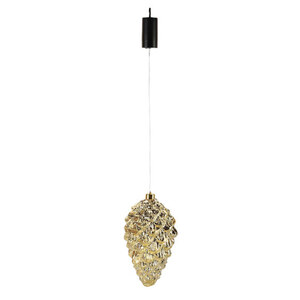 ProVida LED-Hängeobjekt Ornament Tannenzapfen 15 x 28 cm Goldoptik