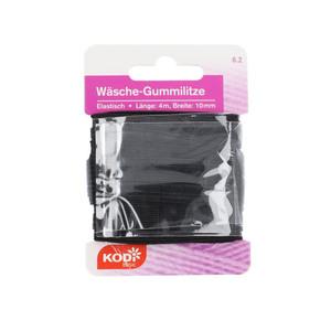 KODi basic Wäsche-Gummilitze 10 mm x 4 m in Schwarz