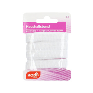 KODi basic Haushaltsband 10 mm x 3 m in weiß