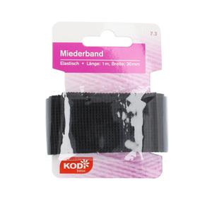 KODi basic Miederband 30 mm x 1 m in Schwarz