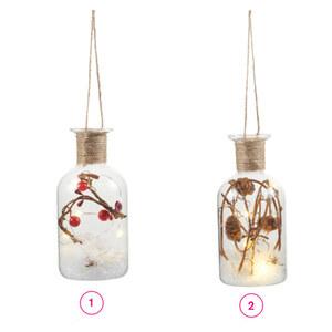 LED Flasche klein 6,5 x 6,5 x 13,5 cm in verschiedenen Varianten