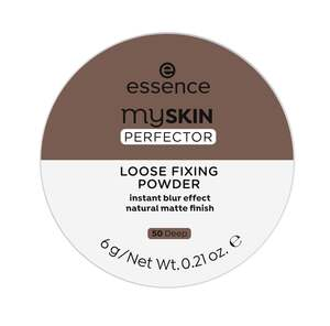 essence my SKIN PERFECTOR LOOSE FIXING POWDER 50 Deep