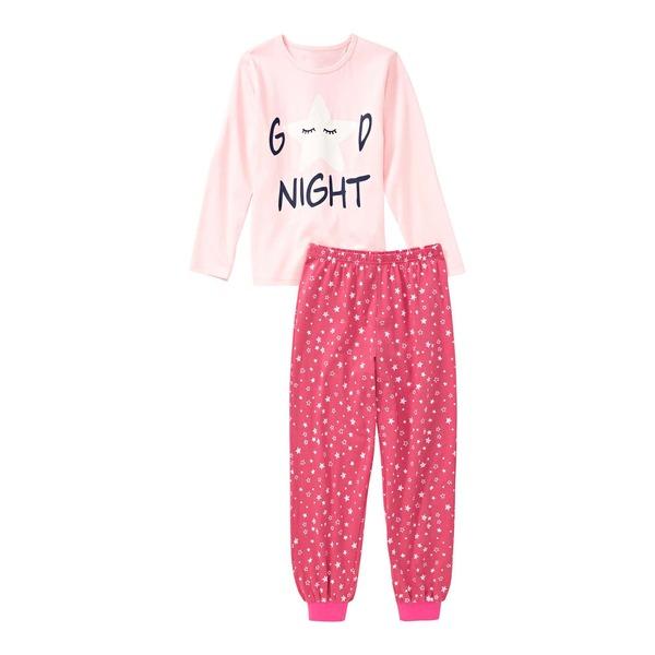 Mädchen-Schlafanzug mit Sternchen-Muster, 2-teilig