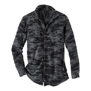 Herren-Fleecehemd mit angesagtem Camouflage-Muster