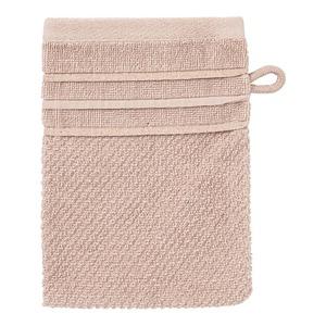 Waschhandschuh mit Glitzer-Bordüre, 16x21cm