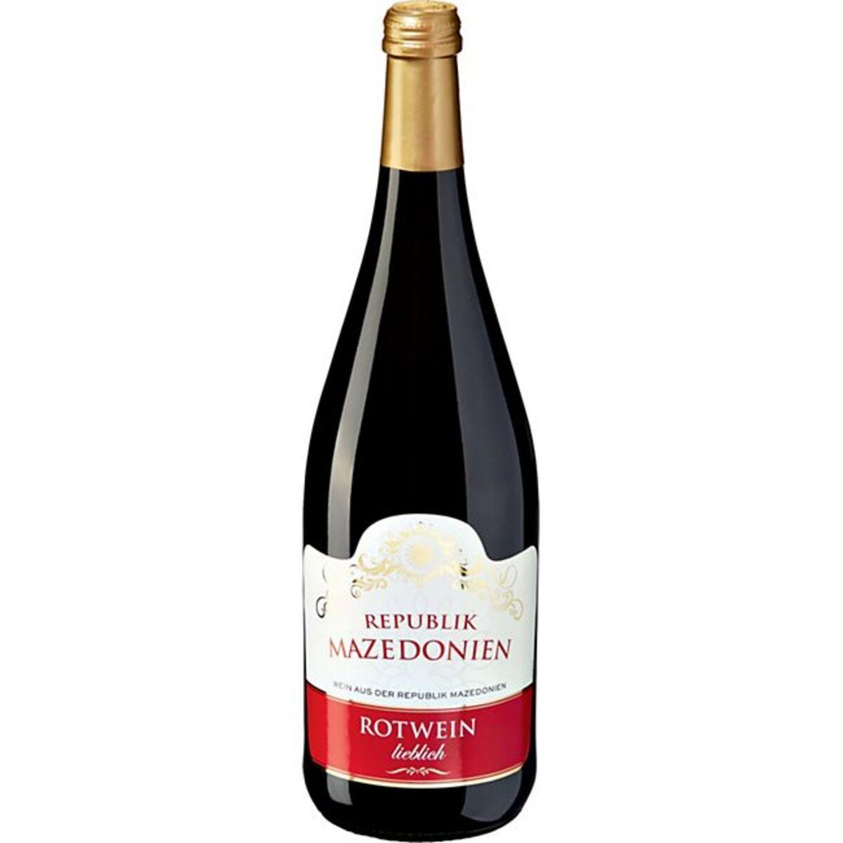 Bild 1 von Rotwein aus der Republik Nordmazedonien 10,0 % vol 1 Liter