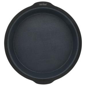 Zenker Silikon-Backform rund 25cm schwarz-grau