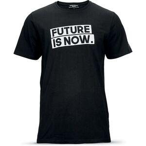 """Roberto Geissini Herren T-Shirt, """"Future is now"""", schwarz - Gr. M"""