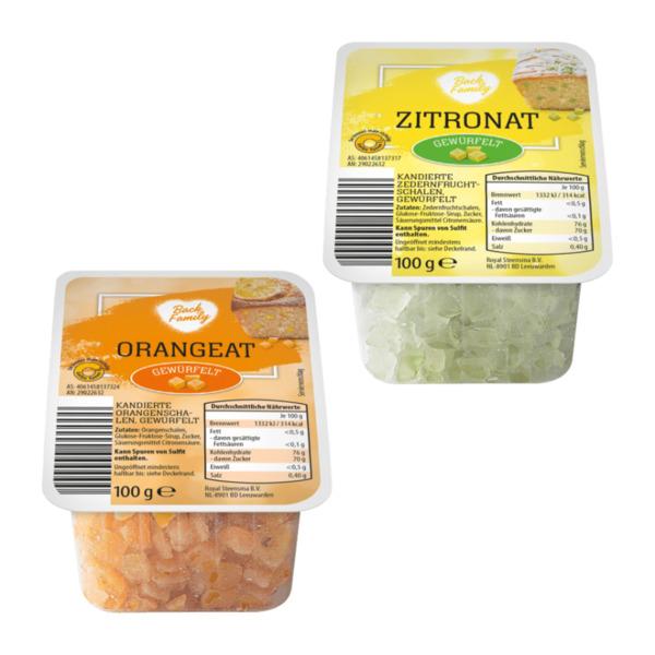 BACK FAMILY Zitronat / Orangeat