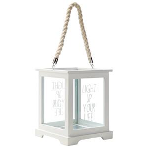 Windlicht Light up your life (Höhe 24,5 cm, weiß)