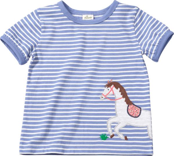ALANA Kinder Shirt, Gr. 98, in Bio-Baumwolle, blau, weiß