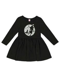 Mädchen Kleid mit Glitzer-Print