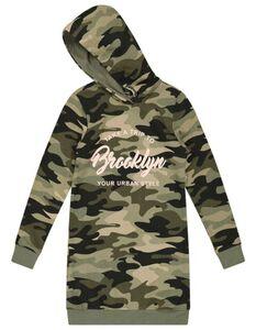 Mädchen Sweatdress mit Camouflagemuster