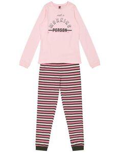 Mädchen Pyjama Set mit Message-Print