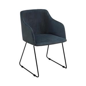 Carryhome Stuhl dunkelblau , Casablanca , Metall , 52x79.5x54.5 cm , lackiert , 000688007102