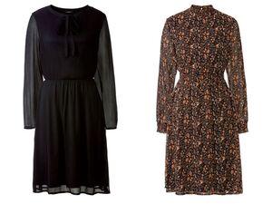 ESMARA® Kleid Damen, mit Gummizug, mit Viskose