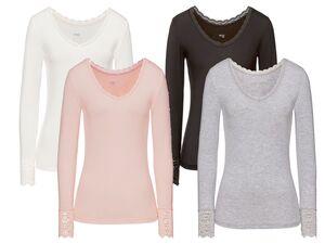 ESMARA® Lingerie Unterhemd Damen, mit Spitze, mit Modal