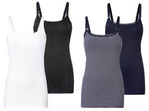 ESMARA® Still Top Damen, 2 Stück, mit Stillfunktion, Clip-Verschlüsse, mit Baumwolle