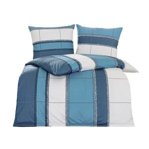 Dreamtex Mikrofaser-Jersey-Flanell-Bettwäsche, ca. 135 x 200 cm - Blue Graphics