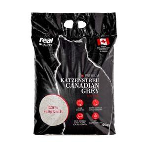 Premium Katzenstreu Canadian Grey jeder 12-kg-Beutel