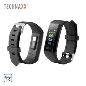 Fitness-Tracker TX-HR7 · Schrittzähler, Distanz, Kalorienverbrauch · Pulsmessfunktion, Schlafüberwachung · Anrufe, SMS, E-Mail, WhatsApp, soziale Medien · 5 Tage Nutzungszeit/15 Tage Standby-Ze