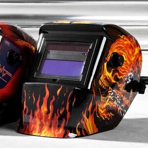 Mauk Automatisches Kopfschweißschild, Flammen