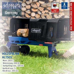 Scheppach Hydraulischer Holzspalter HL750S