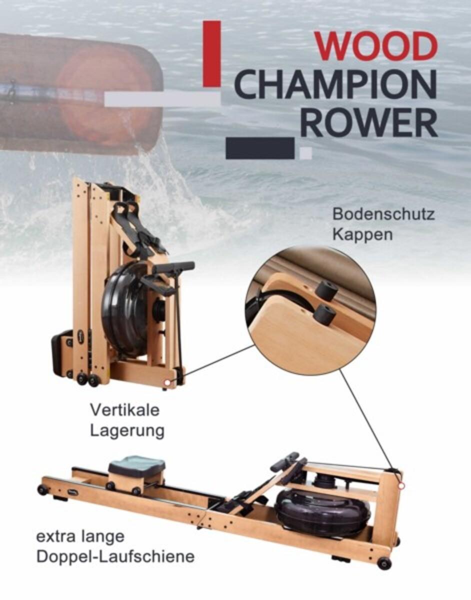 Bild 4 von Body Coach Wasser Ruder Gerät Wood faltbar