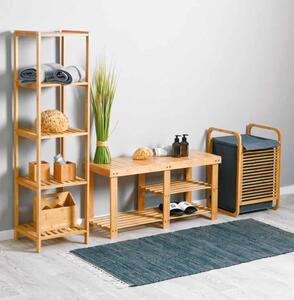 Bambus-Sitzbank