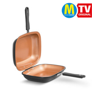 Livington Black Doubletta Basic 2 in 1 Wendepfanne