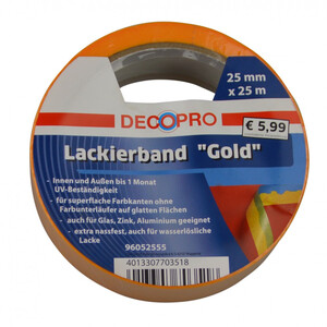 DecoPro Lackierband Gold 25 m