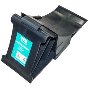 Unterlegkeil mit Klipphalter aus Kunststoff in schwarz