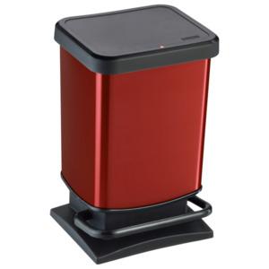 Rotho Treteimer Paso 20l Schwarz/Rot