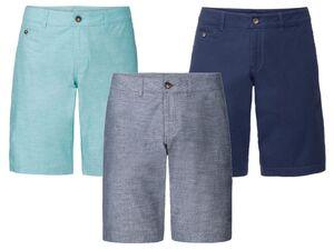 LIVERGY® Shorts Herren, mit Reißverschluss, aus Baumwolle und Elasthan