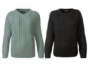 ESMARA® Pullover Damen, in Grobstrick-Optik, kurze Form