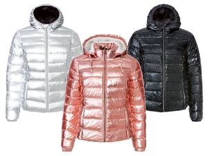 ESMARA® Steppjacke Damen, in Metallic-Optik