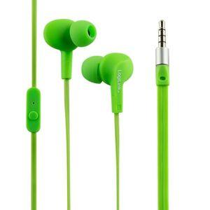 LogiLink Stereo In-Ear Headset grün wasserdicht