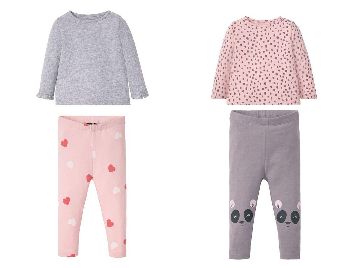 Bild 1 von LUPILU® Baby Set Mädchen, 2-teilig, mit Schulterknöpfung