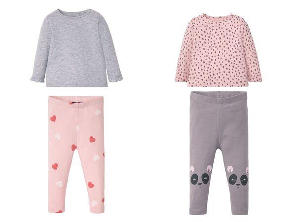 LUPILU® Baby Set Mädchen, 2-teilig, mit Schulterknöpfung